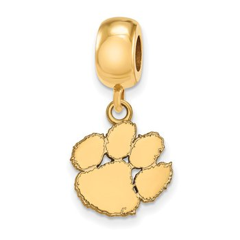 Gold-Plated Sterling Silver Clemson University NCAA Bead