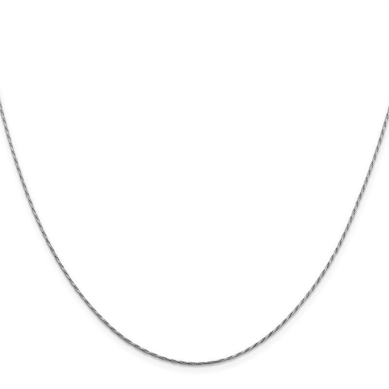 Leslie's Leslie's 14K White Gold .95 mm Round D/C Double Curb Snake Chain