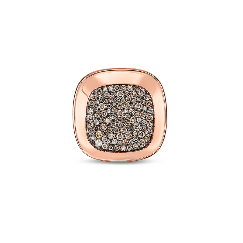Roberto Coin 18Kt Gold Small Ring With Brown Diamonds