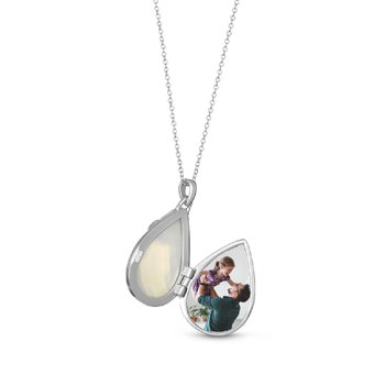 Ella Locket Necklace White Mother of Pearl