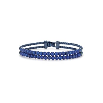 Dual Row Blueberry Cable & Blue Lapis Bracelet