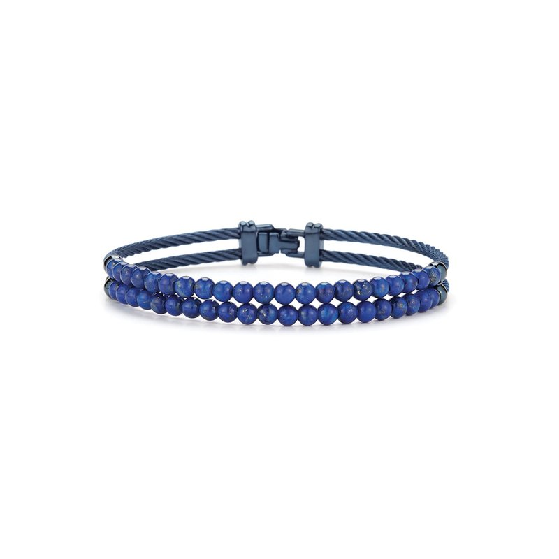 ALOR Catalog Dual Row Blueberry Cable & Blue Lapis Bracelet
