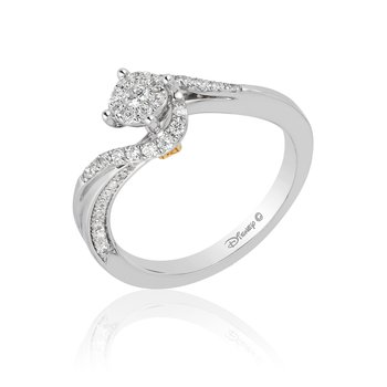 14KWY 1/3CTW Tinker Bell bridal ring