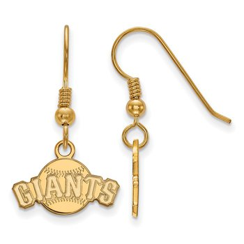 Gold-Plated Sterling Silver San Francisco Giants MLB Earrings