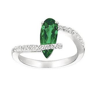 Emerald Ring-CR6658WEM