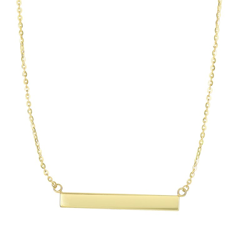 Royal Chain 14K Gold Bar Necklace