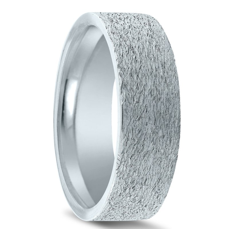 N17225 - Men's Wedding Band with Organic Finish