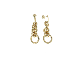 18Kt Gold 5 Loop Earrings