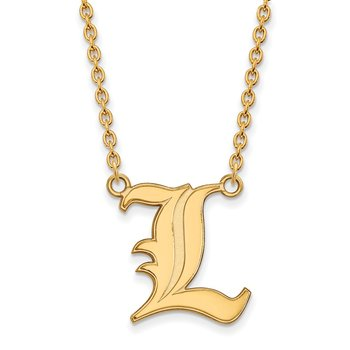 Gold University of Louisville NCAA Necklace