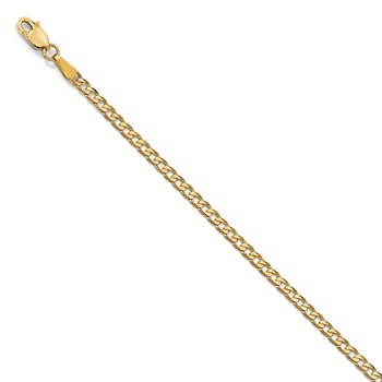 Leslie's 14k 2.3mm Flat Beveled Curb Chain