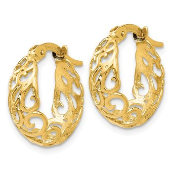Leslie's 14K Polished Hinged Hoop Earrings