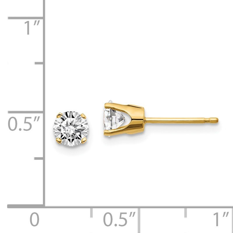 Quality Gold 14ky .10ct. I2 K-L Diamond Stud Push-on Post Earrings