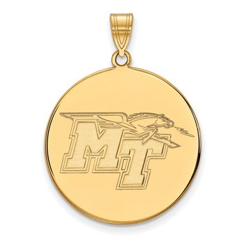 Gold Middle Tennessee State University NCAA Pendant