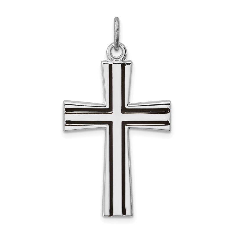 Quality Gold Sterling Silver Rhodium-plated Enameled Latin Cross Charm