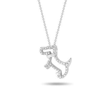 Scottie Dog Diamond Pendant