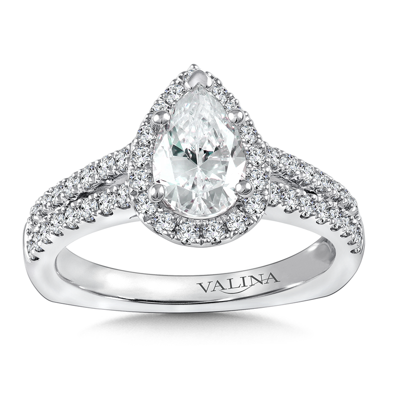 Valina Diamond Engagement Ring Mounting in 14K White Gold  (0.506 ct. tw)