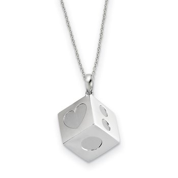 Sterling Silver Lucky As Can Be 18in Necklace