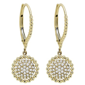 10K Diamond Earrings 1/5 ctw