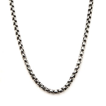3mm Black Oxidized Bold Box Chain