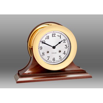 "6"" Shipstrike Clock in Brass on Traditional Base"
