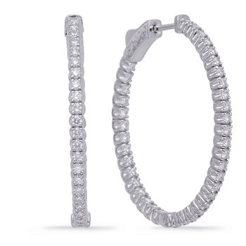1.4 inch Securehinge Oval Hoop Earring