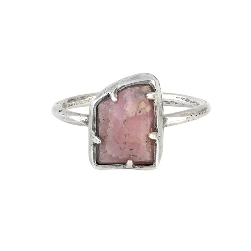 Waxing Poetic Grounding Ring - Rhodocrosite