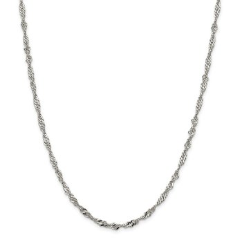Sterling Silver 3.5mm Singapore Chain