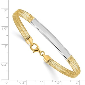 14K Two-tone Stretch Mesh Bracelet