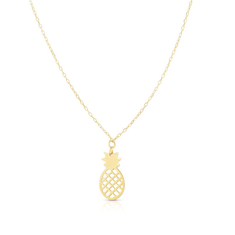 Royal Chain 14K Gold Pineapple Necklace