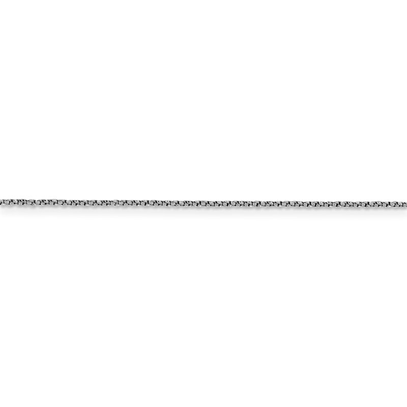 Leslie's Leslie's 14K White Gold 1 mm D/C Twisted Box Chain