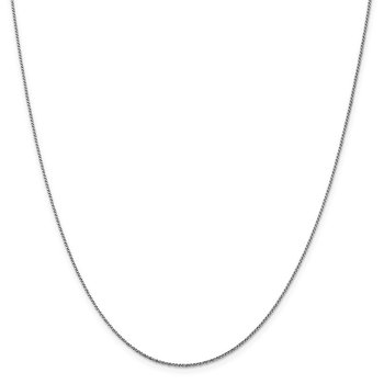 Leslie's 14K White Gold 1 mm D/C Twisted Box Chain