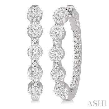 lovebright diamond hoop earrings