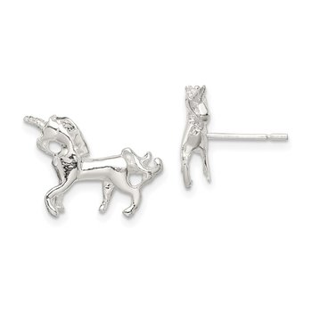 Sterling Silver Unicorn Mini Earrings