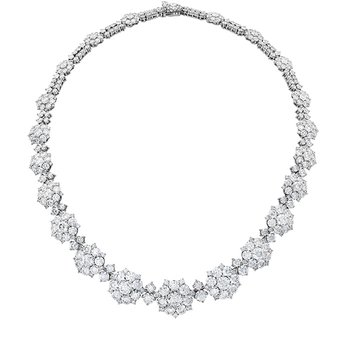 39 ctw. Beloved Cluster Necklace