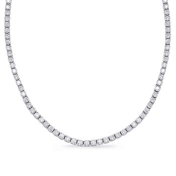 White Gold Four Prong Necklace