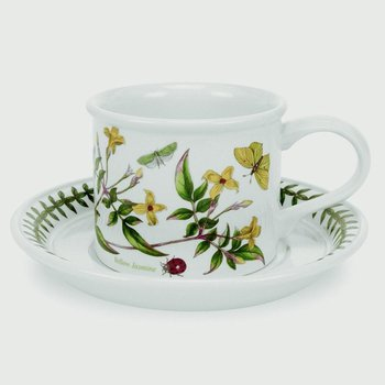 Set of 6 Assorted Motif Teacups and Saucers
