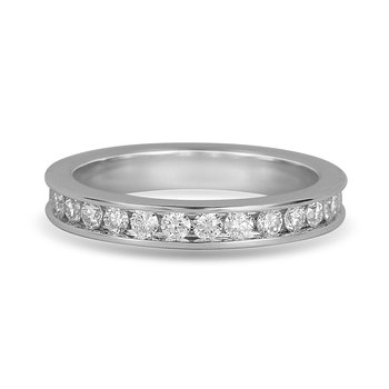 14K WG Diamond Eternity Ring in Channel Setting 1.00 Cts