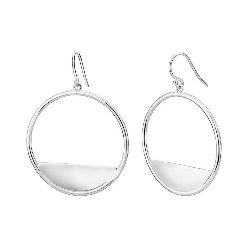 LARUS Jewelry Round Reflection Earrings