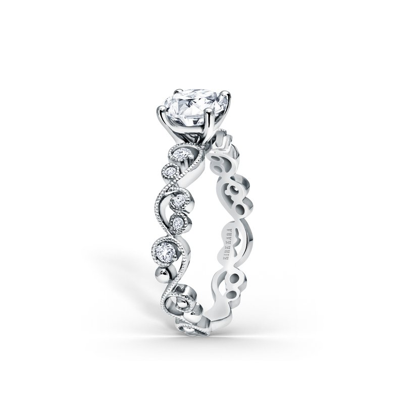 Kirk Kara Lace Solitare Diamond Engagement Ring