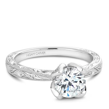 Noam Carver Floral Engagement Ring B019-02EA
