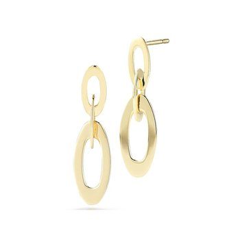 18KT GOLD PETITE LINK EARRINGS