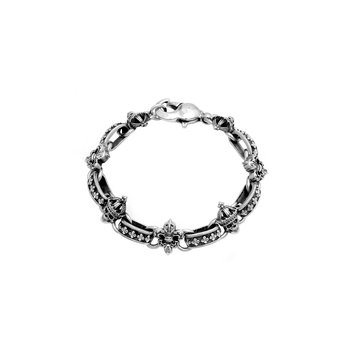 Skull & Fdl Light Link Bracelet