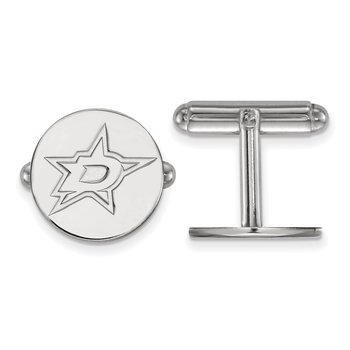 Sterling Silver Dallas Stars NHL Cuff Links