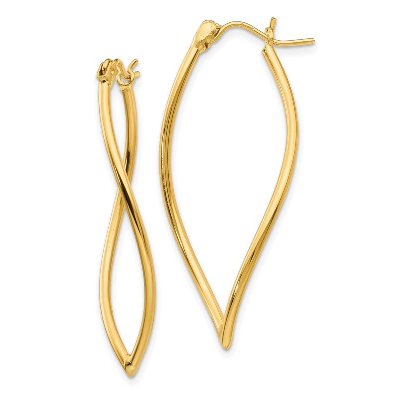 Quality Gold 14k Polished Fancy Hoop Earrings