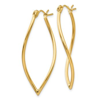 14k Polished Fancy Hoop Earrings