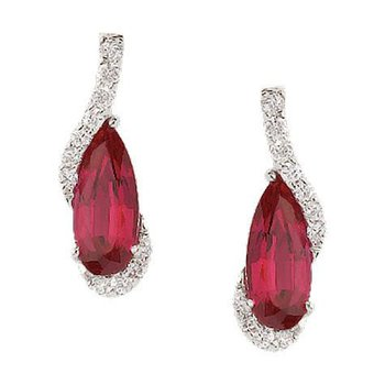 Ruby Earrings-CE2460WRU
