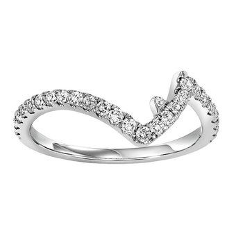 14K Diamond Matching Band 1/8 ctw matching to 1/2 ctw Ring