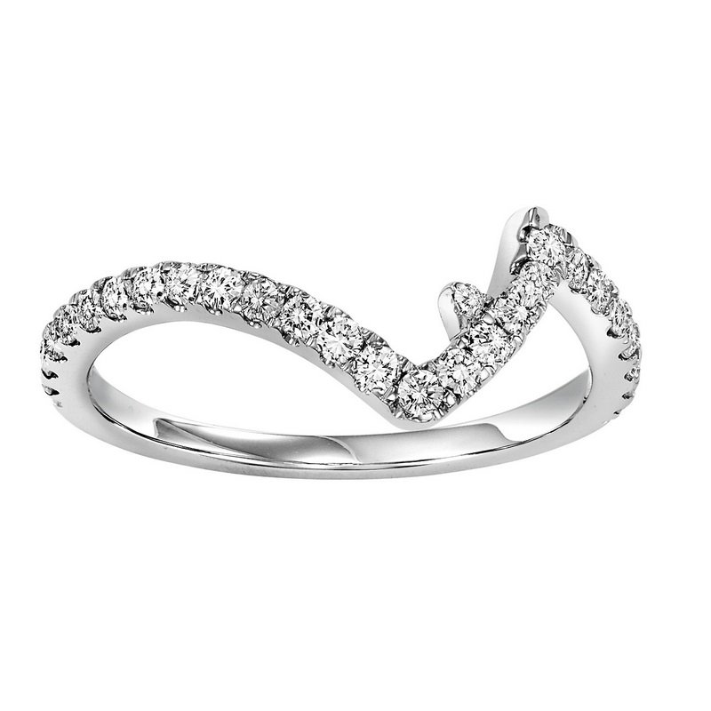 Twogether 14K Diamond Matching Band 1/8 ctw matching to 1/2 ctw Ring