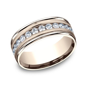 Comfort-Fit Diamond Wedding Band