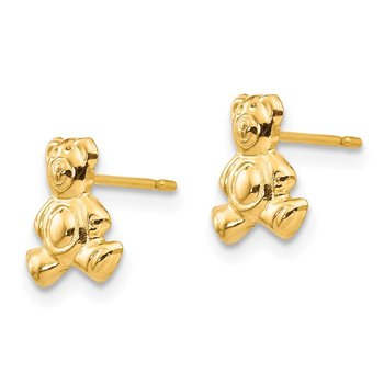 14k Madi K Teddy Bear Post Earrings